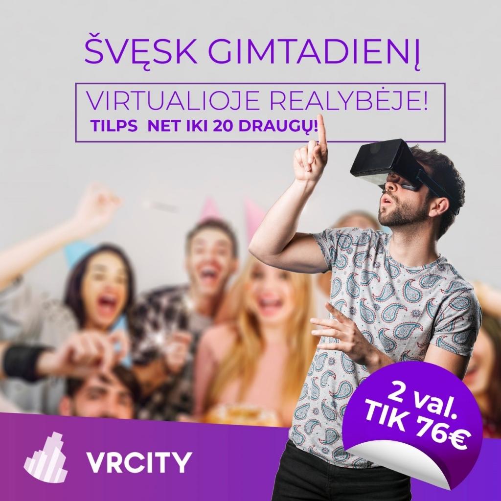 Švęsk gimtadienį virtualioje realybėje su VR City | Virtualios realybės vairavimo bei pilotavimo simuliatoriai | Saulėtekio al 41 | Vilnius | 860020236