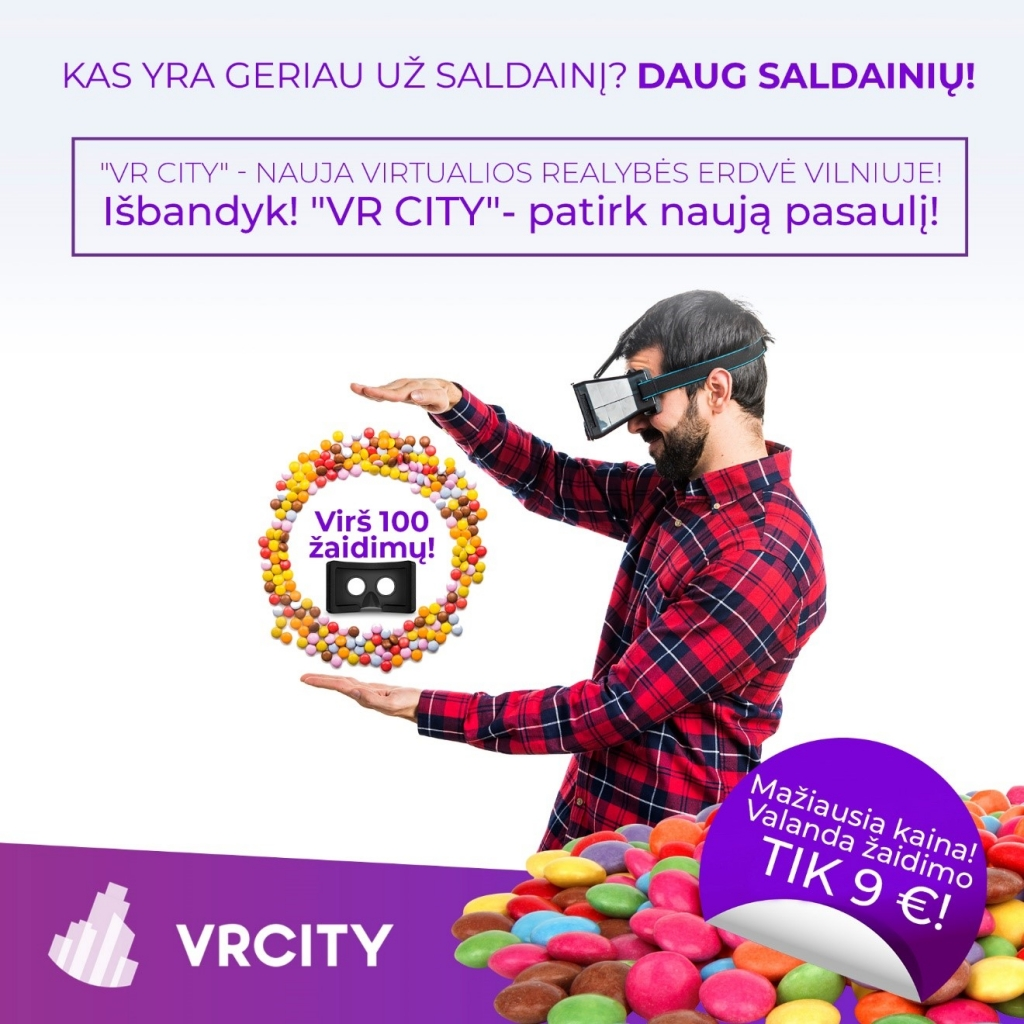 Virtualios realybės kambario rezervacija | Vienkartinis apsilankymas | VR City | Saulėtekio al 41 Vilnius | 860020236 | info@vrcity.lt